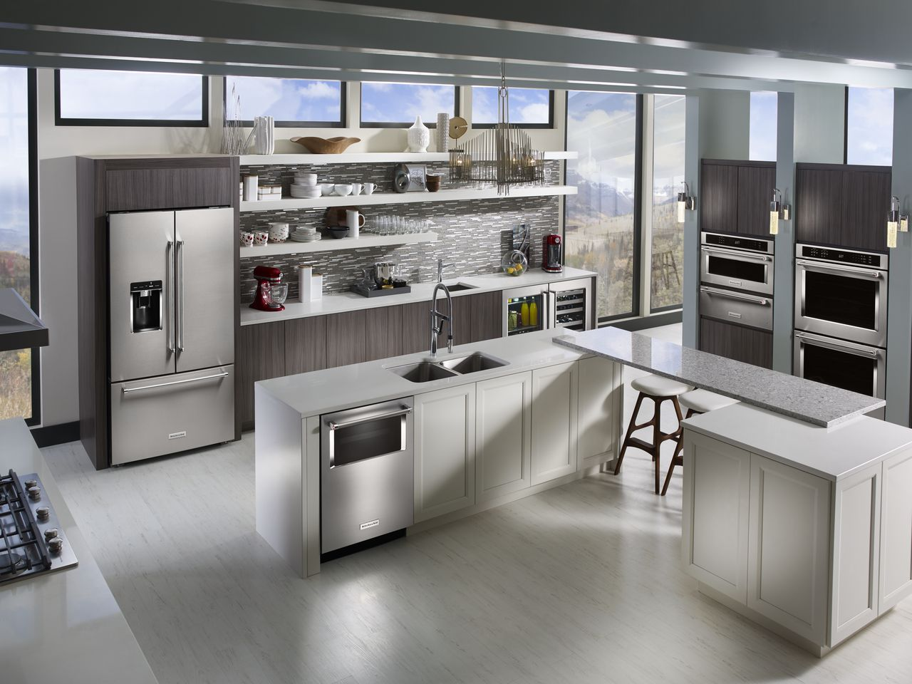 KITCHENAID INTRODUCES THREE DOOR FREE STANDING REFRIGERATOR